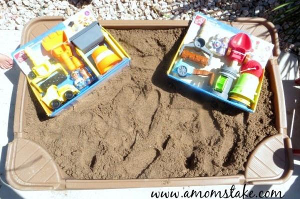 Backyard Beach Fun with Step2 Sandbox and Sand Toys!