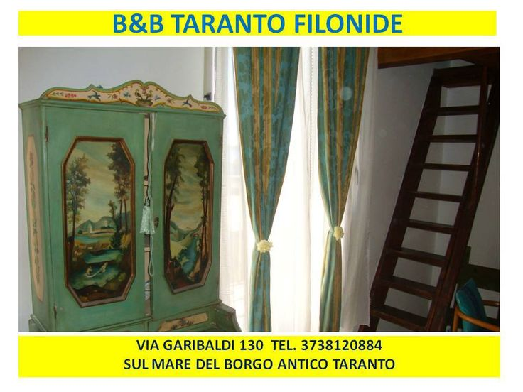 Mini Appartamento B&B Filonide Taranto. Mobilio d'epoca e rifiniture con mattonelle