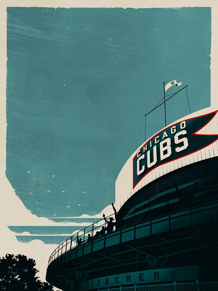 Chicago Cubs World Series appearance commemorated posters for ESPN. Justin Van Genderen.