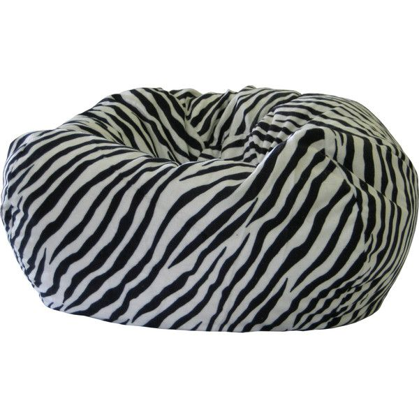 Gold Medal Zebra Print Suede Bean Bag (130 CAD) ❤ liked on Polyvore featuring home, furniture, chairs, bean bag, zebra striped chair, zebra bean bag, colored furniture y round chair