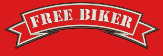 FREE BIKER ribbon  Machine Embroidery Design by embroiderypapatedy