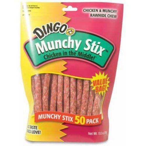 Dingo Munchy Stix Treats, 50-Count, 15.5 OZ ** Additional details @
