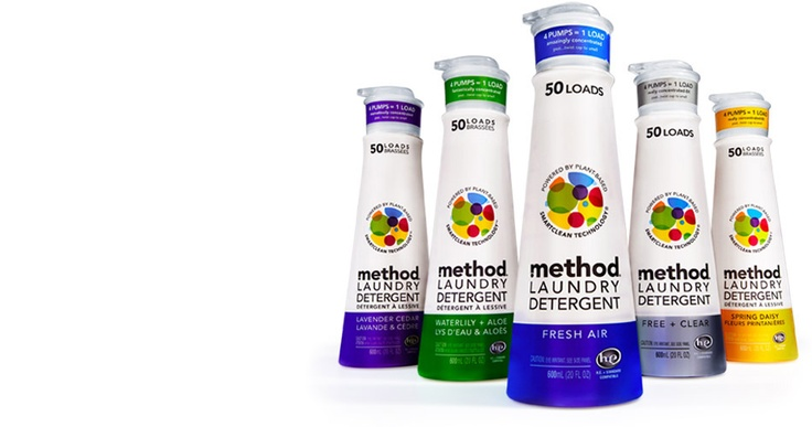 I love Method cleaning products, the furniture polish is the best, it smells like almonds