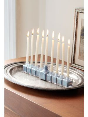 How to make a memorable menorah with old salt and pepper shakers
