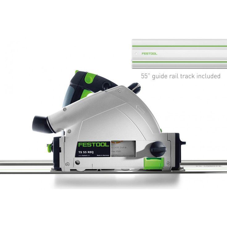 Festool 574683 TS 55 REQ Plunge Cut Track Circular Saw, Imperial