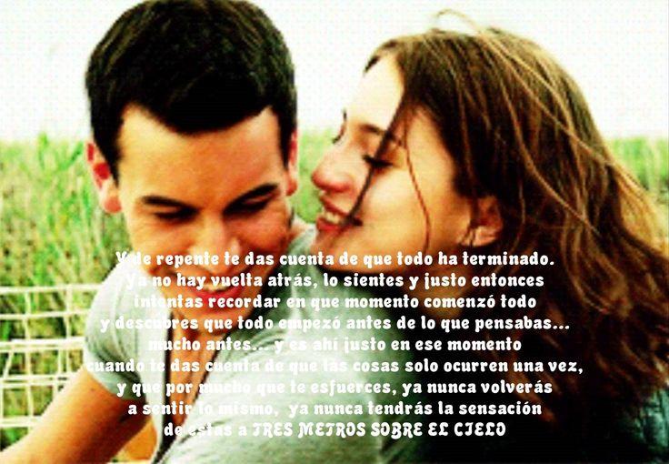 Ya Nunca Tendras La Sensacion De Estar Tres Metros Sobre El Cielo El Amor Movie Posters Movies