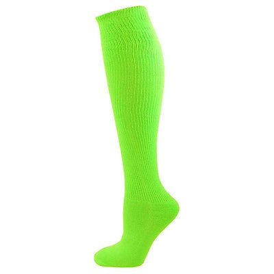 Neon Solid Knee High Volleyball Socks