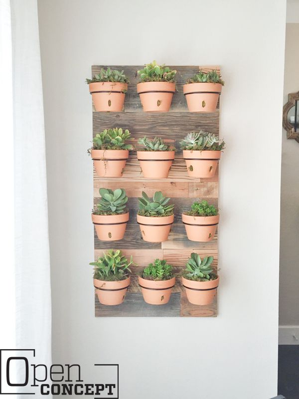 Build an easy hanging wall planter with only three tools in three steps! This piece is easily customizable and is a functional piece of art on your wall!