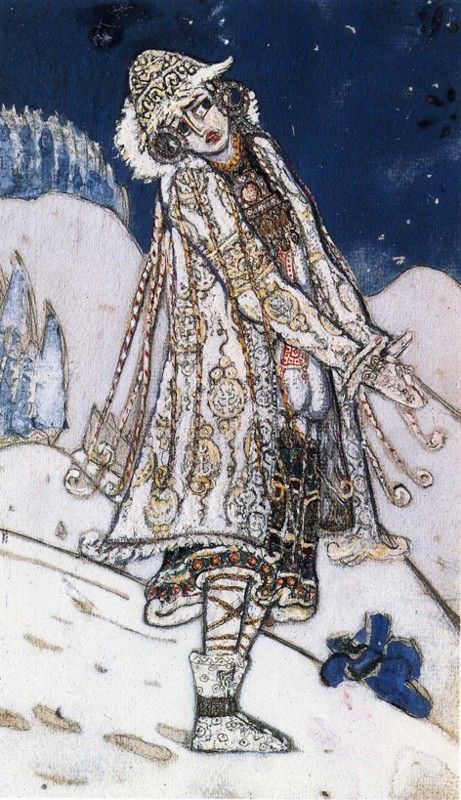 Nicholas Roerich. Snow Maiden. Costume Sketch for A. Ostrowsky's Play The Snow Maiden.