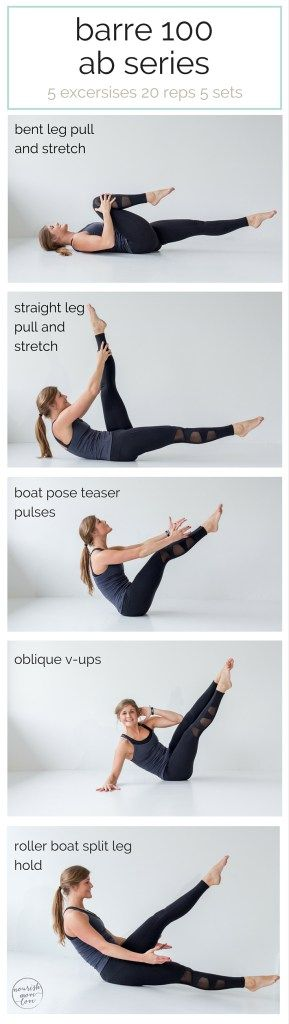 best barre exercises for flat abs - barre 100 ab series - pin this workout -- www.beachbodycoach.com/kayceemick