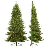 Found it at AllModern - 7' Tiffany Pine Half Christmas Tree with 350 Clear Lights with Stand