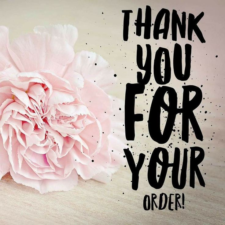 Thank you for your perfectly posh order