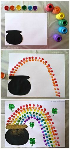 Easy St. Patrick's Day Crafts For Kids - Sassy Dealz    Make just the rainbow for VBS
