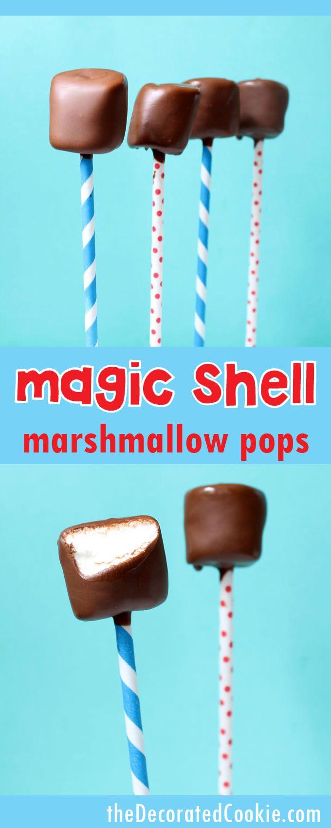 magic shell marshmallow pops -- 2-ingredient homemade magic shell