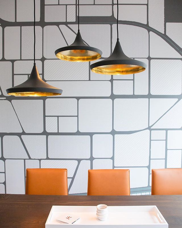 Hanging A Cluster Of Pendants Like Our Tom Dixon Beat Lights Above Your Workspace Will Create Wide Pendant Light Modern Lighting Design Modern Office Lighting