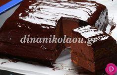 Κέικ σοκολάτα με γλάσο σοκολάτας | Dina Nikolaou