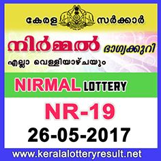 Nirmal Lottery NR-19 Results 26-5-2017