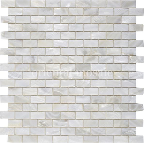 China Wholesalemother Of Pearl Arched Shell Water Jet Mosaic Tile