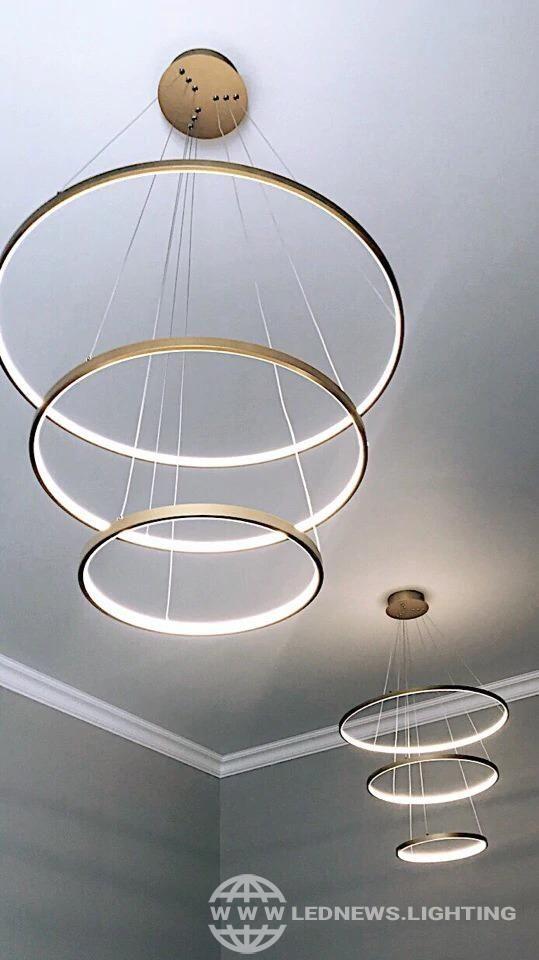 <b>Modern</b> Pendant Lights For Living Room Dining Room <b>Circle Rings</b> ...