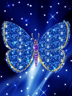 animated butterfly gif | Blue butterfly download Free Animations for mobile