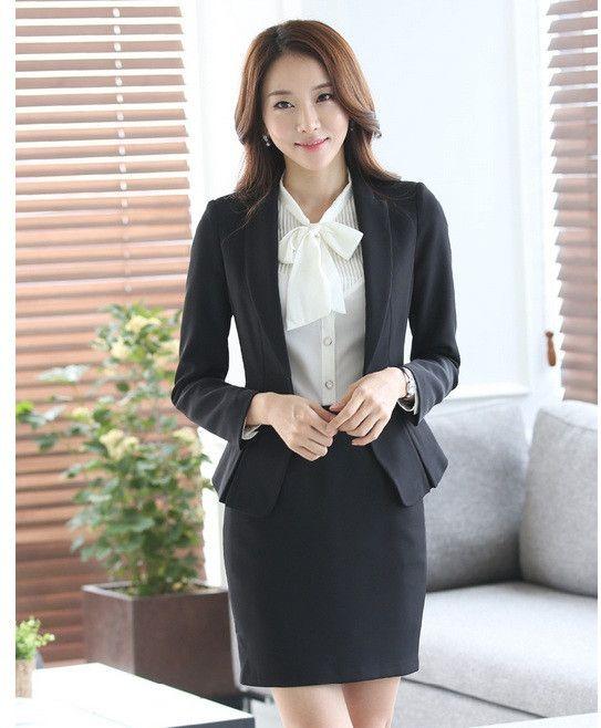 Formal Ladies Office Skirt Suit 2016 Office Uniform Designs Women Business Suits Elegant Skirts Suits Blazer With Skirt Sets                                                                                                                                                                                 More