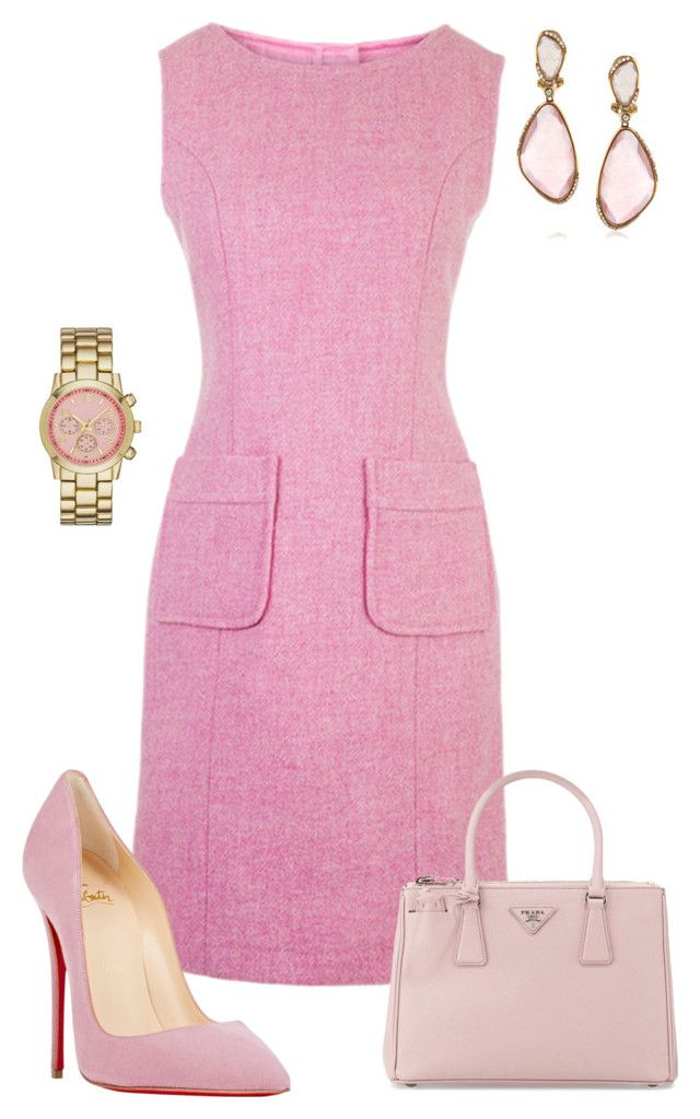 Untitled #489 by angela-vitello on Polyvore featuring polyvore, fashion, style, Christian Louboutin, Prada, Merona, Mark Broumand and clothing