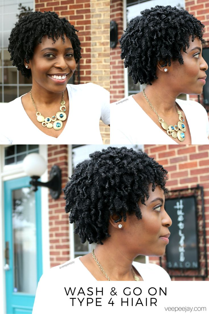 Step by Step Wash & Go on Type 4 Hair - VeePeeJay.