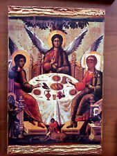 The Holy Trinity- handmade Greek orthodox Russian byzantine icon