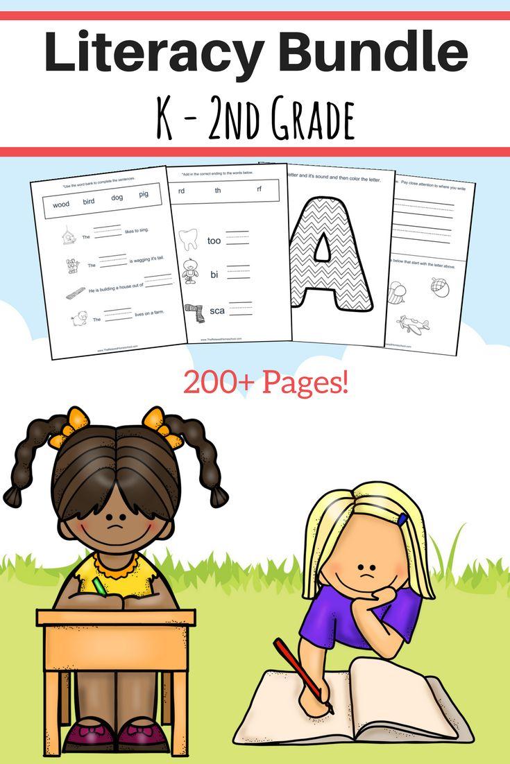 FREE 200+ page PreK-2nd Grade Literacy Bundle