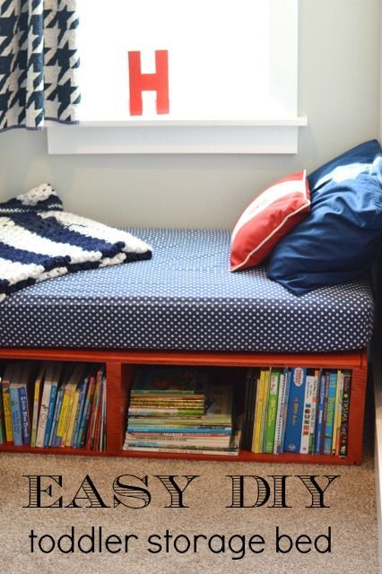 Diy Toddler Bed With Storage Images