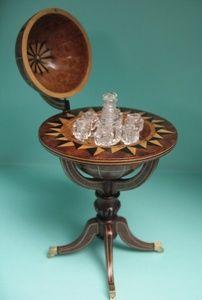 Globe by Michael Walton, Crystal by Jim Irish. I inch or 1/12th scale Dollhouse Miniature Art Piece