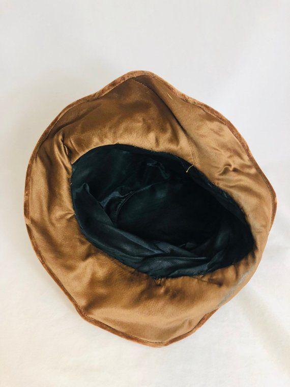 584e9514 1920s Women's Brown Winter Hat Cloche Brimmed Art Deco Winter ...