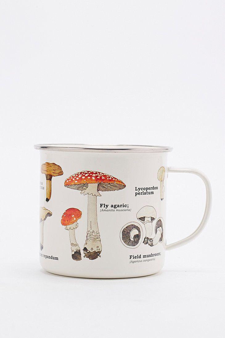 Enamel Mushroom Mug - Urban Outfitters