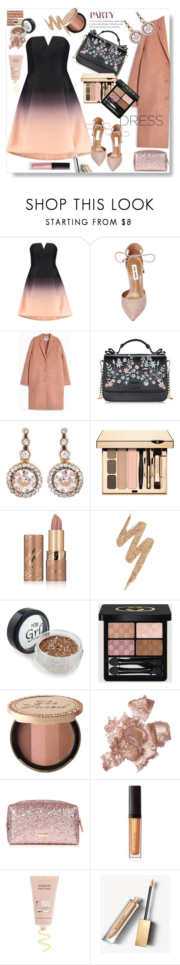 """""""Part dress.."""" by gul07 ❤ liked on Polyvore featuring Halston Heritage, Steve Madden, Acne Studios, Selim Mouzannar, tarte, Urban Decay, Gucci, Too Faced Cosmetics, By Terry and Laura Mercier"""