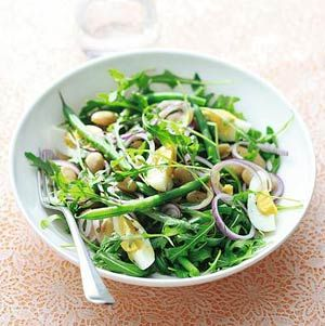 Recept - Rucola salade met bonen en ei