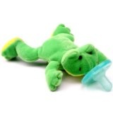 Wubbanub Infant Plush Toy Pacifier Green Frog (Baby Product)By Wubbanub