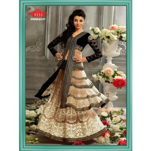 Designer Black And cream Lehenga Choli