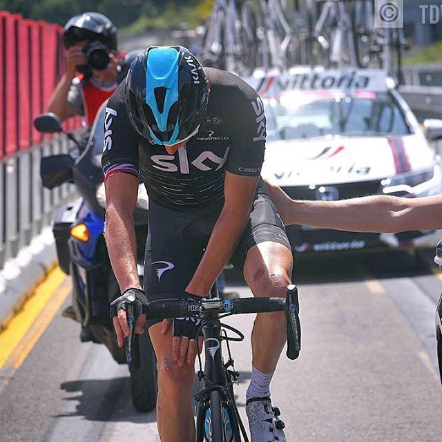 Not sure if he'll go on far this way Geraint Thomas Stage 12 Giro100 @tdwsport