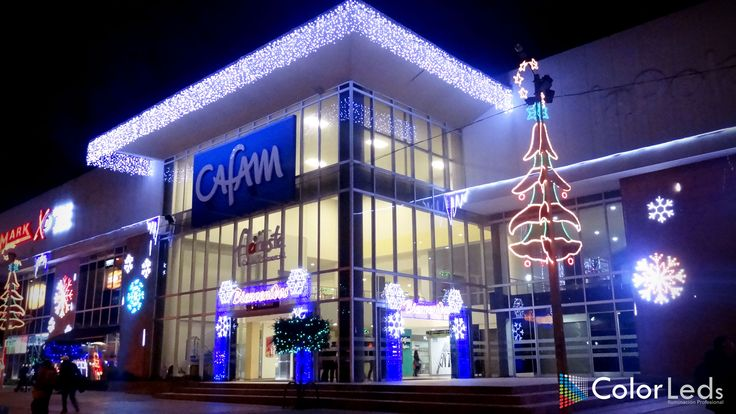 Iluminación y decoración navideña centro comercial cafam floresta, Bogotá, Colombia, 2014