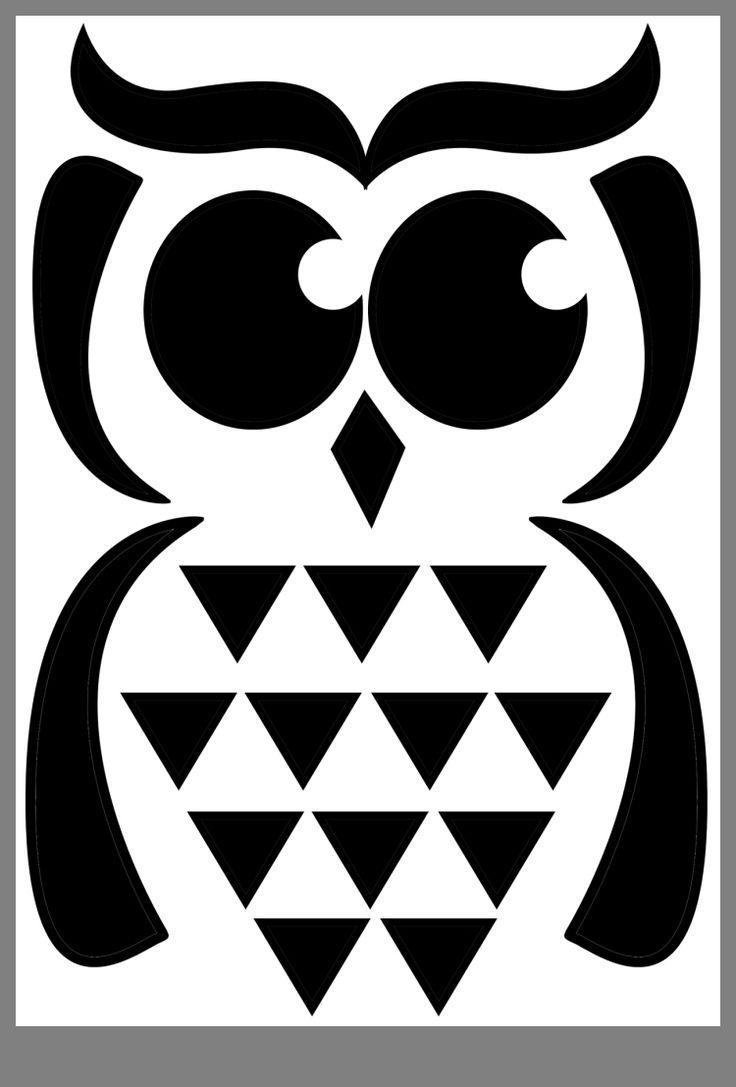 Halloweeny   Owl templates, Hobbies and crafts, Pumpkin ...