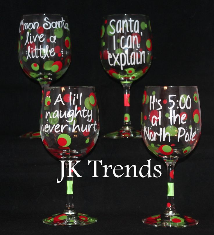25 unique christmas wine glasses ideas on pinterest diy for Holiday wine glass crafts