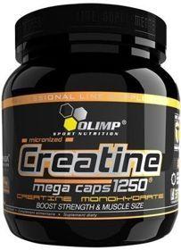 Olimp - CREATINE MEGA CAPS 400 kaps. Szybka resynteza ATP (bezpośrednie źródło energii) - znaczny wzrost siły oraz beztłuszczowej masy ciała - działanie antykataboliczne - zwiększone uenergetycznienie organizmu. #kreatyna #suplementydiety #silownia