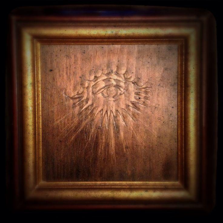 Handcut Wood... All seeing eye...