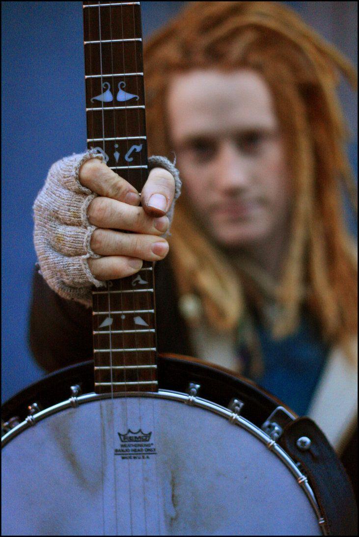 Fingerless gloves for guitarists - Banjo Dreds Fingerless Gloves Love
