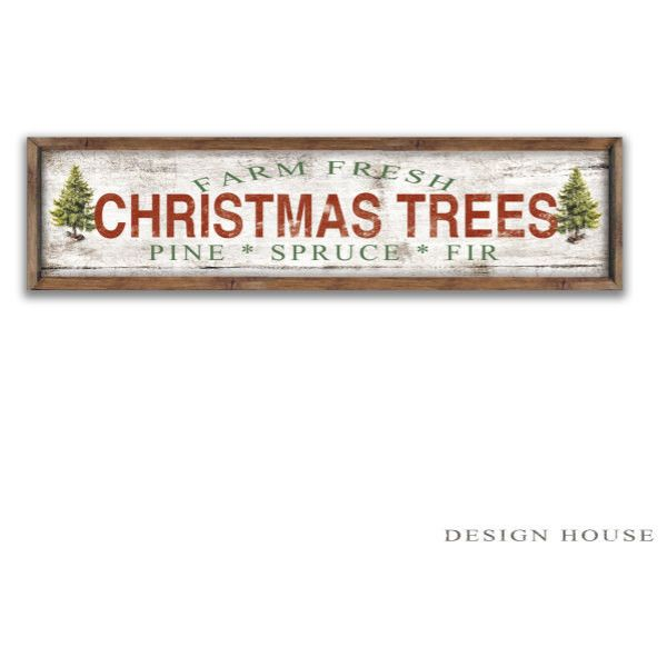 Farm Fresh Christmas Trees Wooden Sign 44'x12'x2 Christmas Plaques... (160 CAD) ❤ liked on Polyvore featuring home, home decor, home & living, home décor, silver, wall décor, black home decor, painted signs, wooden christmas signs and christmas wood signs