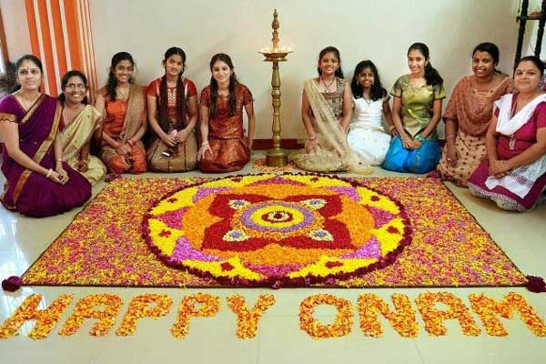 Onam is the biggest festival in the Indian state of Kerala. Onam brings out the best of Kerala culture and tradition. Intricately decorated Pookalam, Onam Sadya, breathtaking Snake Boat Race are some of the most remarkable features of Onam. Happy Onamk