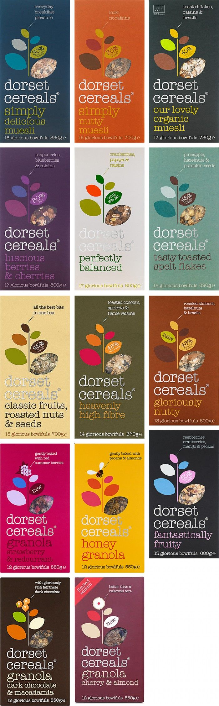Dorset Cereals from England. A sophisticated packaging compared to typical…