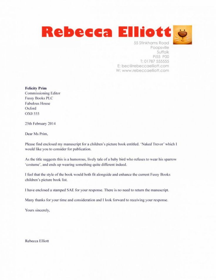 Simple cover letter examples letter pinterest simple for How to write a cover letter for writing submissions