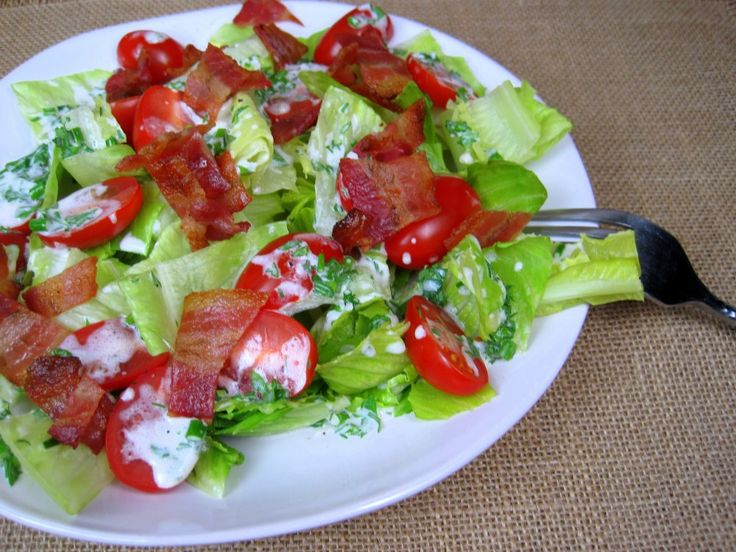 BLT Salad with Buttermilk Chive Dressing | Food & Drinks ...