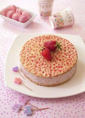 Bavarois facile à la confiture de fraise et crème fouettée